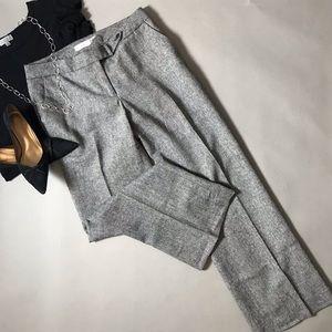 Calvin Klein Black/White Wool Blend Pants